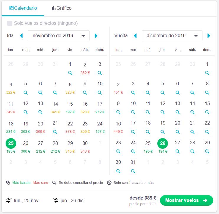 skyscanner ofertas vuelos